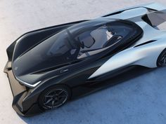 A rendering of the FFZero1, a concept car by automaker Faraday Future that was unveiled at the 2016 CES in Las Vegas.