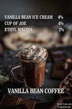 Vanilla Bean Coffee e liquid recipe #vape #diy #ecig #eliquid