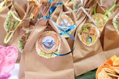 This is a neat idea for a treasure hunt game. Based on Disney's Pixie Hollow fairies, let kids find their fairy talent by hiding paper bags containing items related to a talent. Kids hunt for the bags and whichever they find decides their fairy affinity.