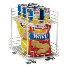 Keep your pantry organized, and create extra space.  Repin if you <3 this!