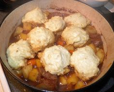 Devoid Of Culture And Indifferent To The Arts: Old Time Recipe: Mother's Beef Stew with Dumplings Supper Recipes, Meat Recipes, Mexican Food Recipes, Cooking Recipes, Game Recipes, Vietnamese Recipes, Chicken Recipes, Healthy Recipes, Snacks