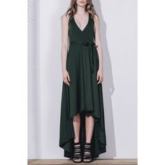 25.46$  Buy now - http://die7q.justgood.pw/go.php?t=173569601 - Graceful Solid Color Sleeveless Pleated Asymmetric Maxi Dress For Women