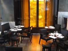 France ; Paris ; dinner at la societe  http://www.restaurantlasociete.com/ 4, place Saint Germain, Paris 6ème Tel.  +33 (0)1 53 63 60 60