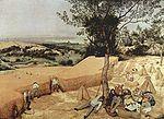 Pieter Bruegel  La Moisson,le cycle des saisons, aout-septembre, 1565, huile sur bois, 119-159 cm signé en bas à droite