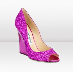 Jimmy Choo Biel Wedges - Hot Pink!!