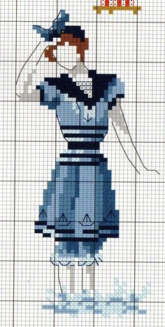 Bluebirds for the Kitchen Days-of-the-Week Hot Iron Embroidery Transfers - Embroidery Design Guide Cross Stitch Sea, Cross Stitch Numbers, Cross Stitch Charts, Vintage Embroidery, Diy Embroidery, Cross Stitch Embroidery, Modern Cross Stitch Patterns, Cross Stitch Designs, Stitches Wow