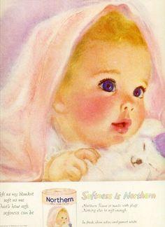 NORTHERN BEAUTIFUL BABY FRANCES HOOK ADORABLE ART Vintage Magazine Ad 1960