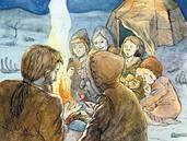 Berättelser när man arbetar med stenåldern Prehistoric Age, Social Science, Science And Nature, Social Studies, Teaching, History, School, Painting, Ann