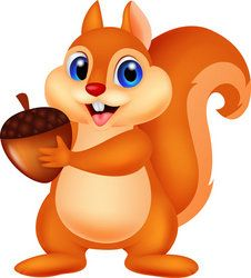 Cartoon Squirrel with Nuts | 902744919-Squirrel-cartoon-with-nut.jpg