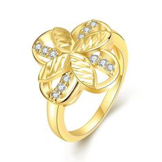 Plated Mini Butterfly Hollow Ring, Women's