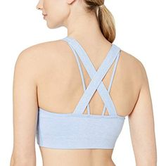 Amazon Brand - Core 10 Women's (XS-3X) Spectrum Longline Cross Back Sports Bra Core 10
