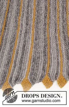Ravelry: Dragon Tail pattern by DROPS design Knitting Short Rows, Knitting Stitches, Knitting Patterns Free, Free Knitting, Free Pattern, Drops Design, Crochet Chart, Knit Crochet, Knit Patterns
