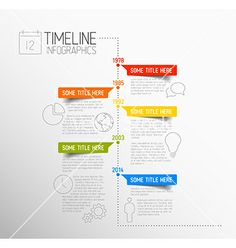 Infographic timeline report template vector by orson on VectorStock®
