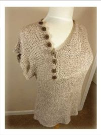 Weekend Tee | Misses Sizes | Dynamic Pattern Format | Skill Level: Beginner | Designer: Knit it Now | Machine Knitting Pattern