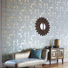 Wallpaper Wednesday: Harlequin Akoa from Leonida Collection - Love Chic Living