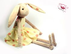 Martha a lovely toy bunnyrabbit. by vimei on Etsy, €17.00