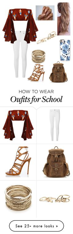 """""""School #15"""" by kendall-bostic on Polyvore featuring Burberry, Mochi, Dsquared2, Casetify, Sole Society and GUESS"""