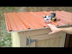 11-Installing Shed Metal Roofing - How to Build a Generator Enclosure.wmv - YouTube