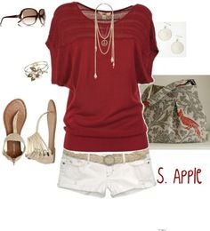 super cute casual outfit. Id totally wear this out shopping with my bestie :)