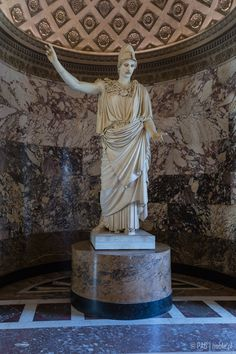 Athena of Velletri (Velletri Pallas or Pallas Athena) sculpture from the Louvre Museum collection in Paris, France