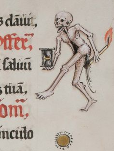 Your virtual eye on illuminated manuscripts, rare books, and the stories behind them. La Danse Macabre, Macabre Art, Medieval Drawings, Medieval Art, Medieval Manuscript, Illuminated Manuscript, Memento Mori, Creepy History, Don't Fear The Reaper