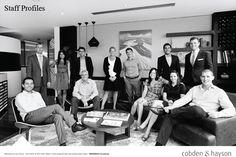 Photography inspiration: Large Group Portraiture - Corporate Headshot - black & white - Indoor Photography