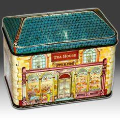 "Vintage Ian Logan House Shaped Tin ""Tea House Fine Blends"" 1978 | eBay"