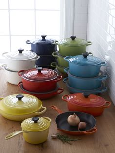Cook in color. Classic @lecreuset cookware now available in seven beautiful colors.