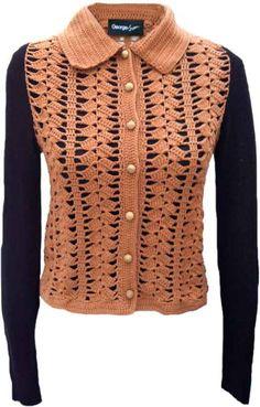 Crochet Mix Cardigan By George & Jean