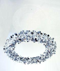 eva menz design chandelier Galaxy crystal perspex translucent sparkling glittering