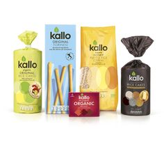 Pearlfisher has created an exciting new brand identity and redesign for leading natural andorganic food company Kallo across its full product range including its Kallo Rice Cakes,Kallo Organic Stocks and Gravies, and new Kallo Organic Soya Drinks.
