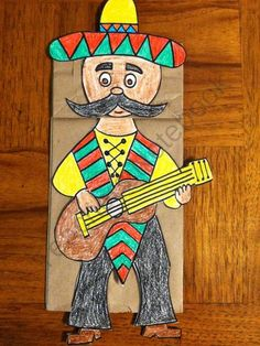 Cinco de Mayo Guitar Player from Melissas Corner on TeachersNotebook.com (3 pages)