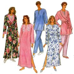 1990s Bath Robe and Pajamas Pattern Simplicity by JFerrariDesigns, $8.00
