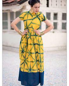 Yellow Tie And Dye Dress  |  Shop now: www.thesecretlabel.com