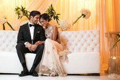 What a chic couple! Nimisha and Nea's wedding is trending on the Brides of Oklahoma Blog today! #bridesofok Photo: J'adore Love Photo and Cinema #oklahoma #wedding