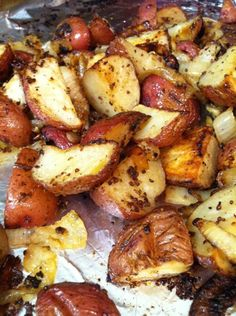 ina's mustard roasted potatoes.