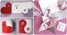 Grown-Up Valentines Day Card Ideas - folded cards