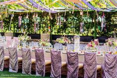 This Wedding Dinner in The East Pavilion with a little sparkle at the head table!  @sashasouzaevents @damionhamilton