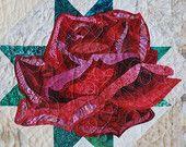 Pattern - Art Quilt - Rose Applique Quilt - Immediate Download PDF