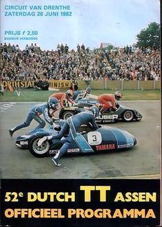 1982 Side Car, Motorcycle Posters, Japanese Motorcycle, Poster Ads, Racing Motorcycles, Circuit, Race Cars, Bike, Sports