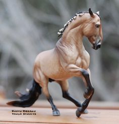 """This stunning boy is a dream come true! He is a customized Breyer Alborozo model done by the talented duo of Rikki Lyman and Lisa Bickford. He is the """"brother"""" to my Rozo model, done by the exact same artists. The detail on him is phenomenal... I can't wait to start showing him!"""