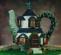 Award winning Gingerbread House designed and created by Veronica.