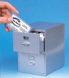 Mini Desktop Card Filing Cabinet So Cute I Want One Of These If Anyone Knows Me Like Little Things Lol