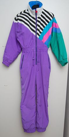 VINTAGE RETRO 90s 80s WOMENS MISTRAL PADDED SKI SNOWBOARD SUIT PURPLE S SMALL in Sporting Goods, Skiing & Snowboarding, Clothing, Hats & Gloves | eBay
