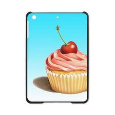 Pink #Cupcake with Cherry #iPadMiniCase> EVERYTHING Pink Cupcake with Cherry> #PatriciaSheaDesigns