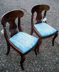 American Empire Fiddle Back Mahogany Chairs With A Contemporary Flair