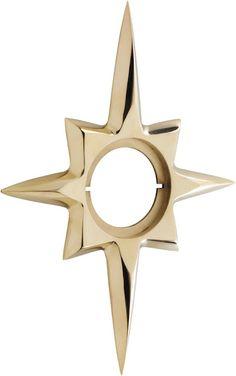 Brass Mid-Century Starburst Escutcheon