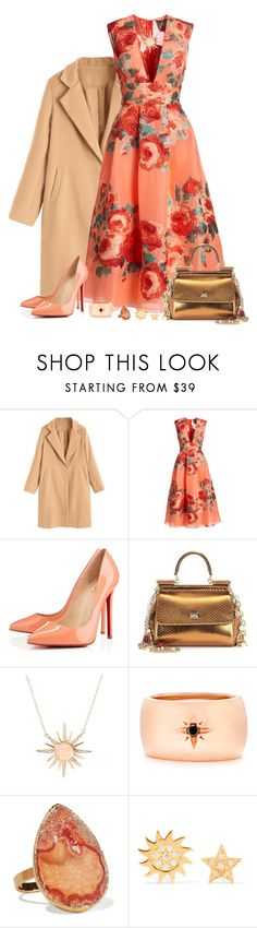 """Hey LYLA!"" by tuomoon ❤ liked on Polyvore featuring Lela Rose, Christian Louboutin, Dolce&Gabbana, Jacquie Aiche, IaM by Ileana Makri, Dara Ettinger and Aamaya by Priyanka"