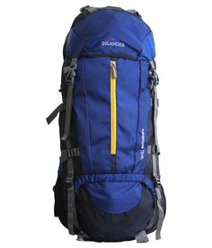 Inlander Internal Frame Backpacking Backpack Hiking Pack for Outdoor Travel Climbing Camping Mountaineering Navy Blue Rucksack Camping Rucksack, Hiking Backpack, Internal Frame Backpack, Backpack Online, Go Hiking, Blue Check, Mountaineering, North Face Backpack, Outdoor Travel