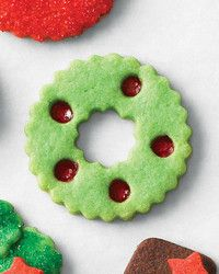 Mix colored sugars (or use leftover sugar from your work surface) to create new shades for these holiday treats.